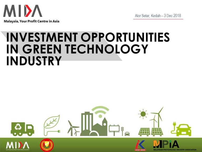 INVESTMENT OPPORTUNITIES IN GREEN TECHNOLOGY INDUSTRY